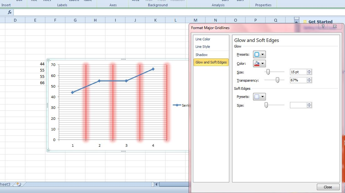 How to add gridlines to excel graphs tip dottech excel gridlines4 ccuart Choice Image
