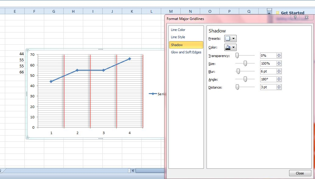 How to add gridlines to excel graphs tip dottech excel gridlines5 ccuart Choice Image