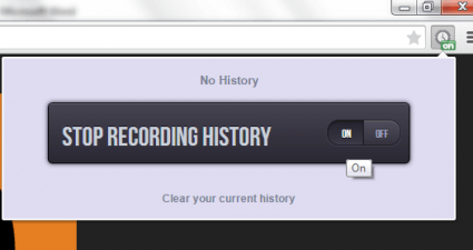 no history in Chrome b
