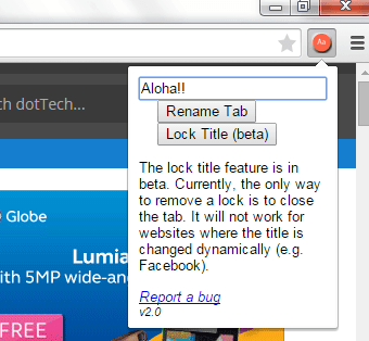 rename tab titles in Chrome b