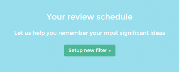 review and remember notes in Evernote