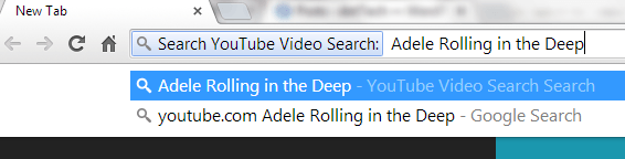 search YouTube from address bar in Chrome c