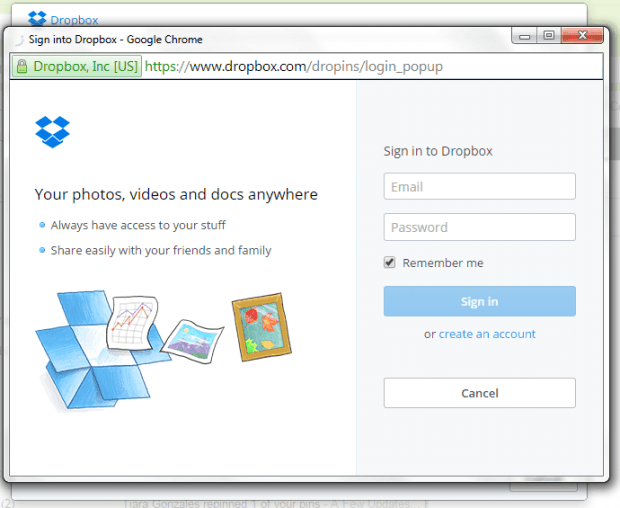 send and preview Dropbox files in Gmail Chrome b