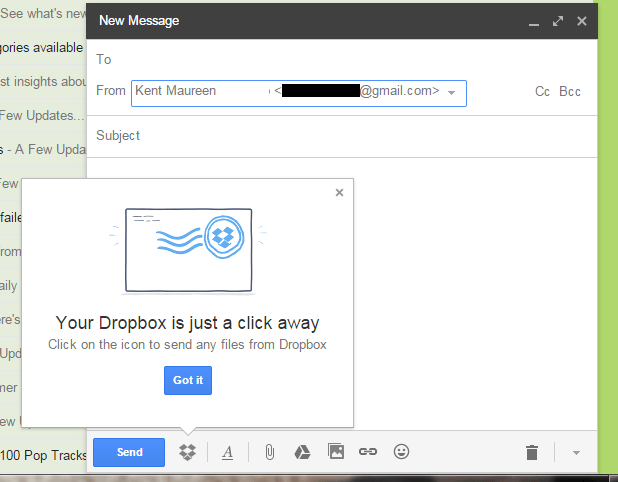 send and preview Dropbox files in Gmail Chrome
