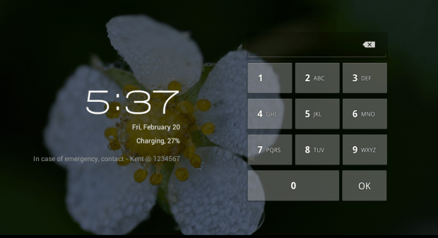 show emergency contact info on Android lock screen