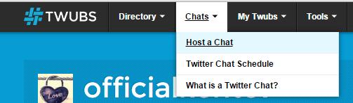 start a tweet chat at Twubs b