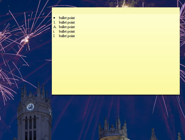 How To Format Texts And Add Bullet Points To Windows Sticky Notes Tip Dottech