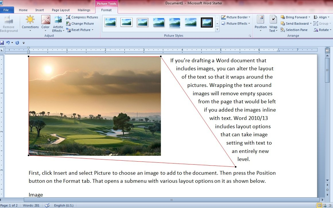So With Those Word Options You Can A Wrap Text Around Images In A Variety Of
