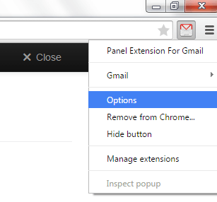 View Gmail in Panel Chrome