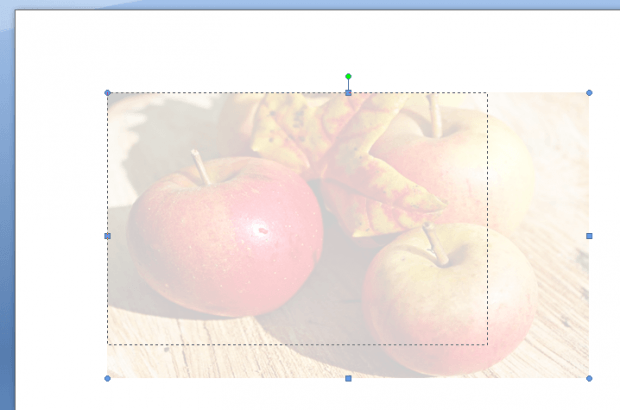 adjust image transparency in Word e