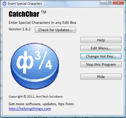 catchchar2