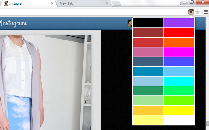How To Change The Background Color Of Instagram In Chrome Tip