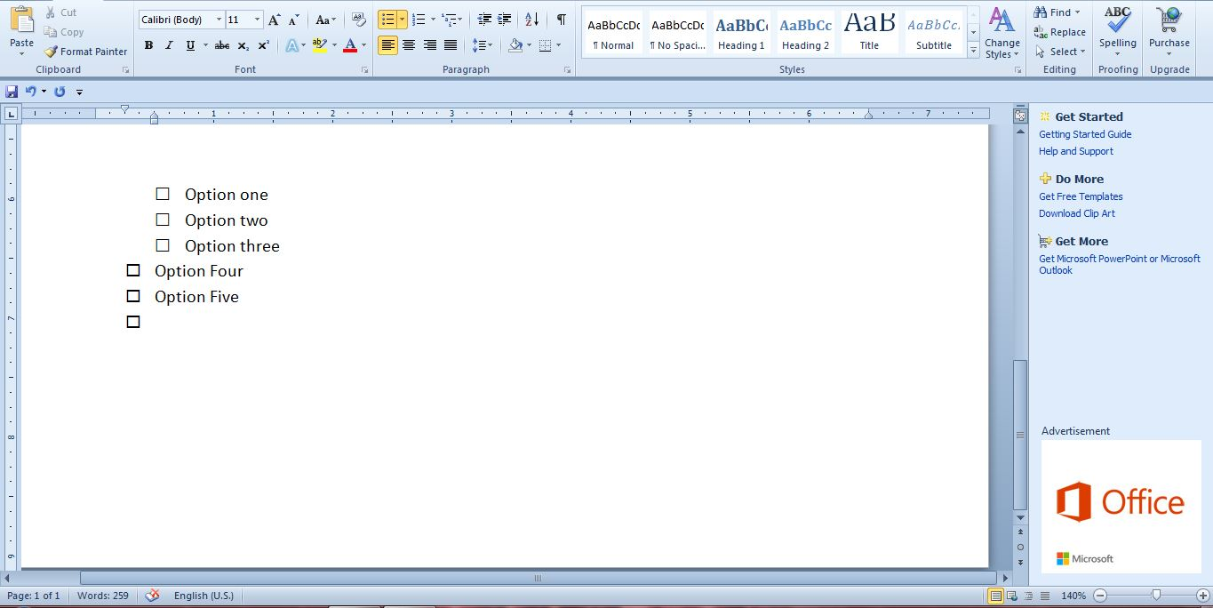 how to add square in word