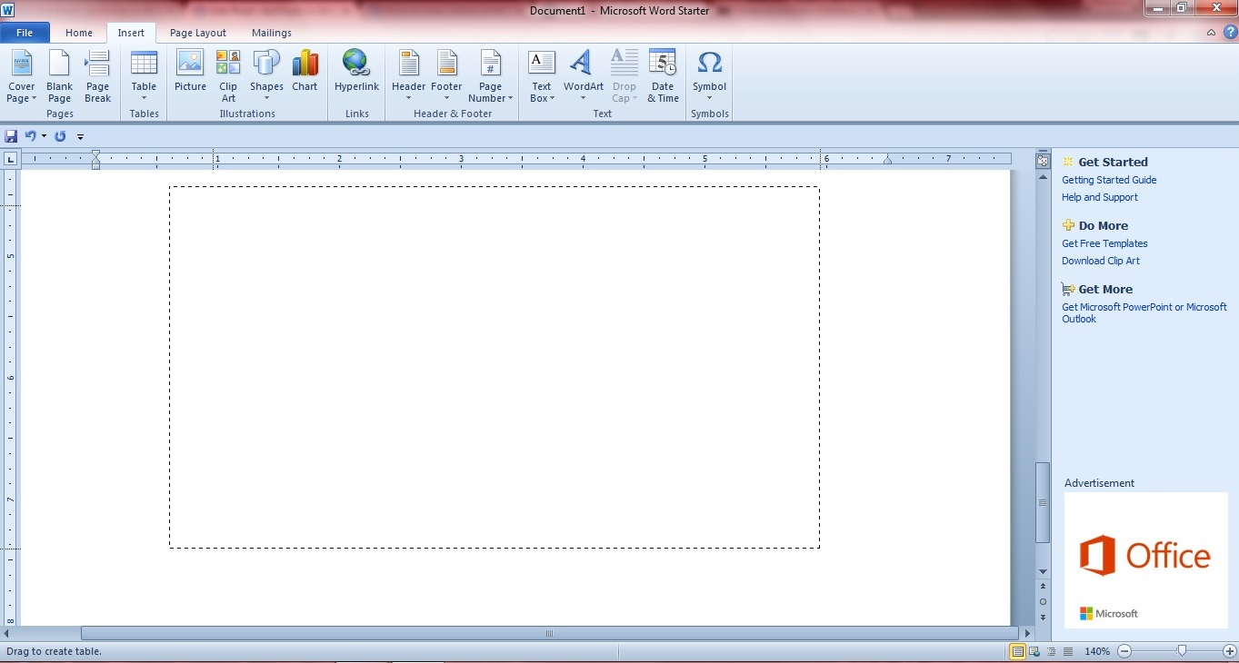 how to draw a table in word