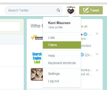 filter tweets in Twitter b