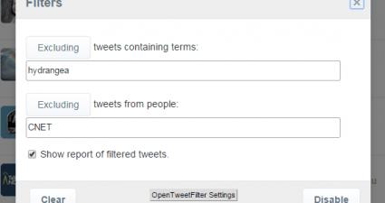 filter tweets in Twitter c