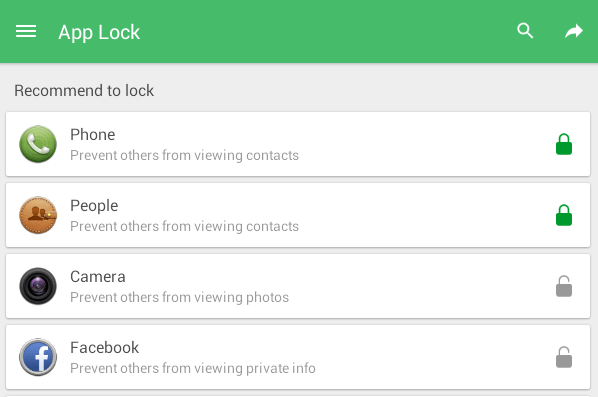 lock the dial pad Android b