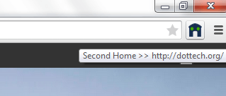 set a second homepage for Chrome c
