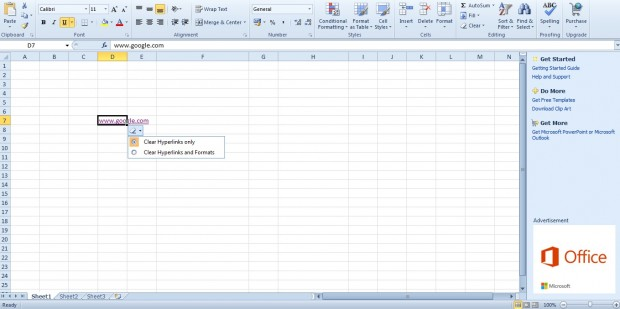 spreadsheet hyperlink