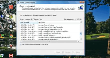 system restore explorer3