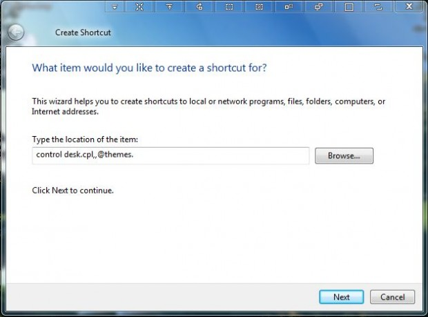 windows desktop shortcut