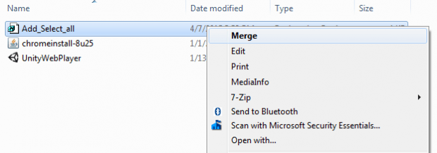 Add select all to Windows context menu