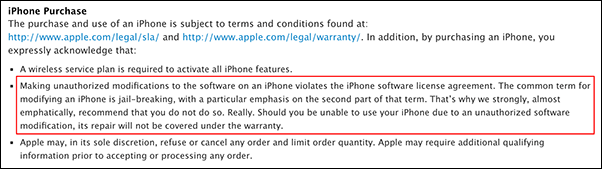 Apple-jailbreak-policy
