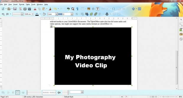 Libreoffice media player2