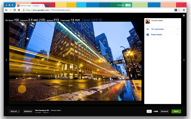 How to display photo details inside the lightbox in Google