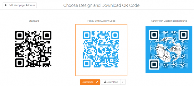 create QR code with logo online b