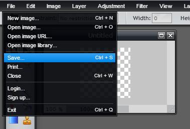 create a transparent icon online d