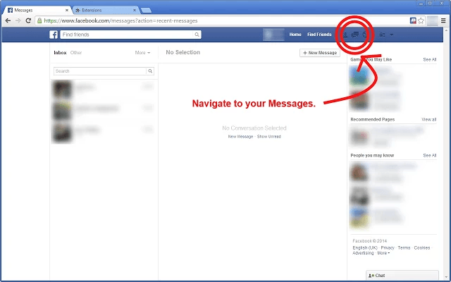 How to delete all Facebook messages - 34.6KB