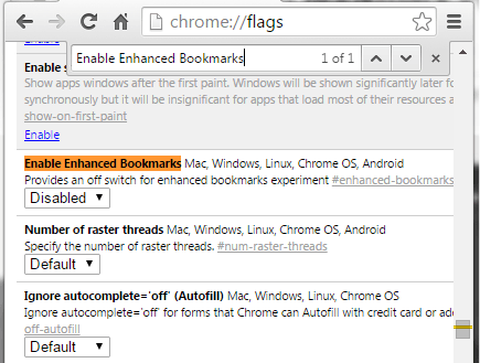 how to get bookmarks back on chrome