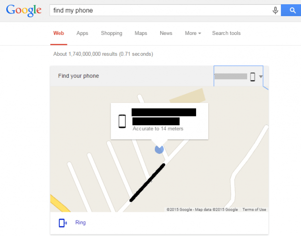 find my phone Google Search