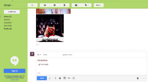 insert GIFs in Gmail email