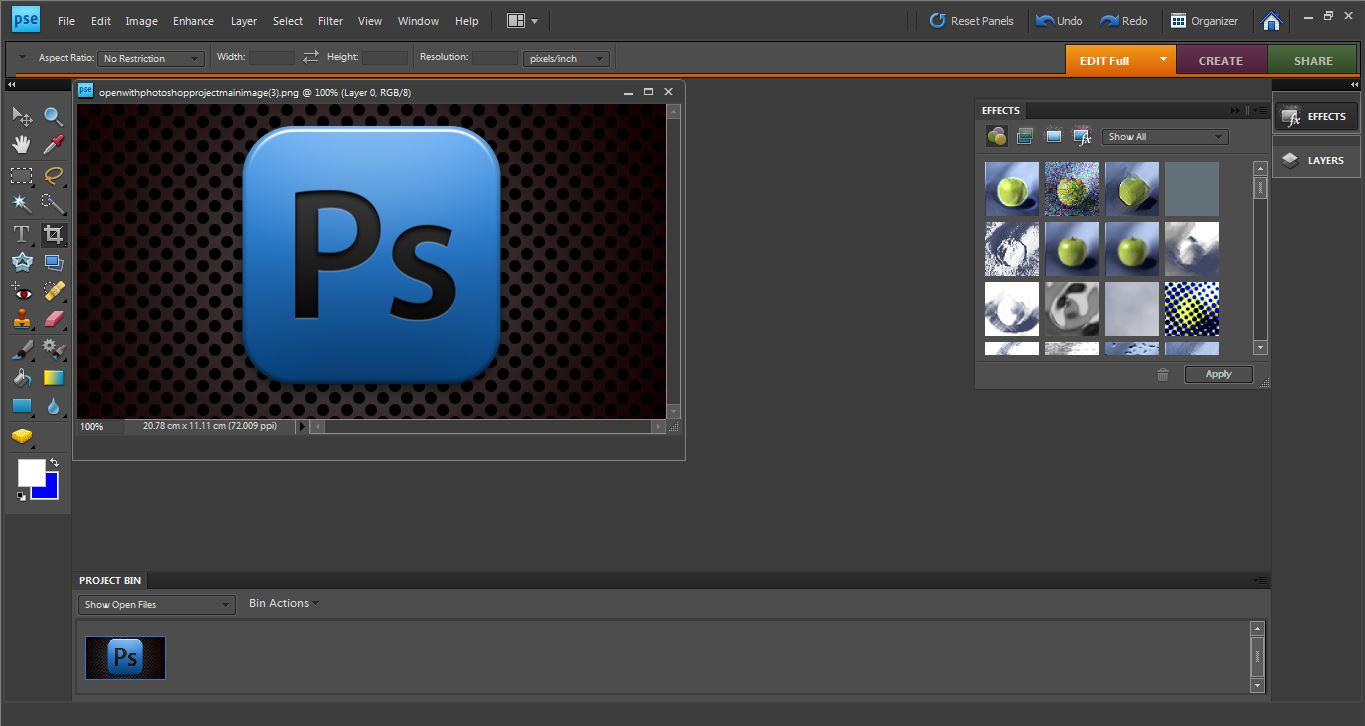 how to open the image in photoshop