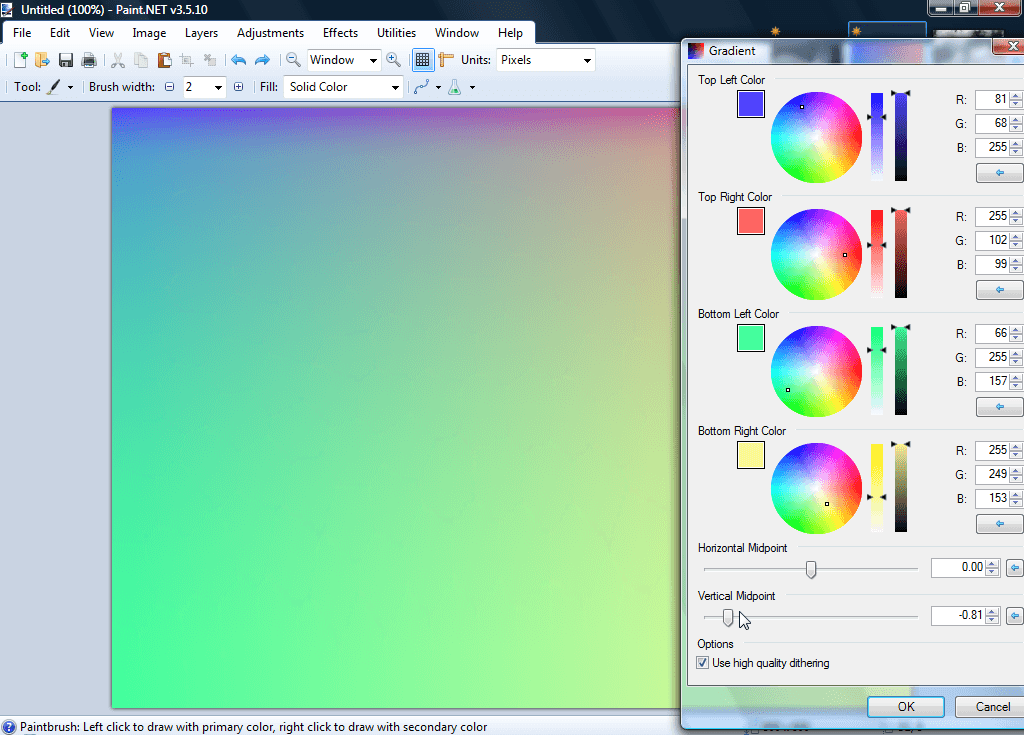 How To Use Gradients Paint Net