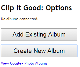 send web photos directly to Google Plus Albums