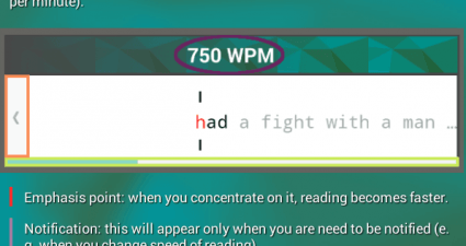 speed reading Android