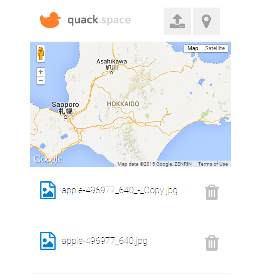 upload and share files by location