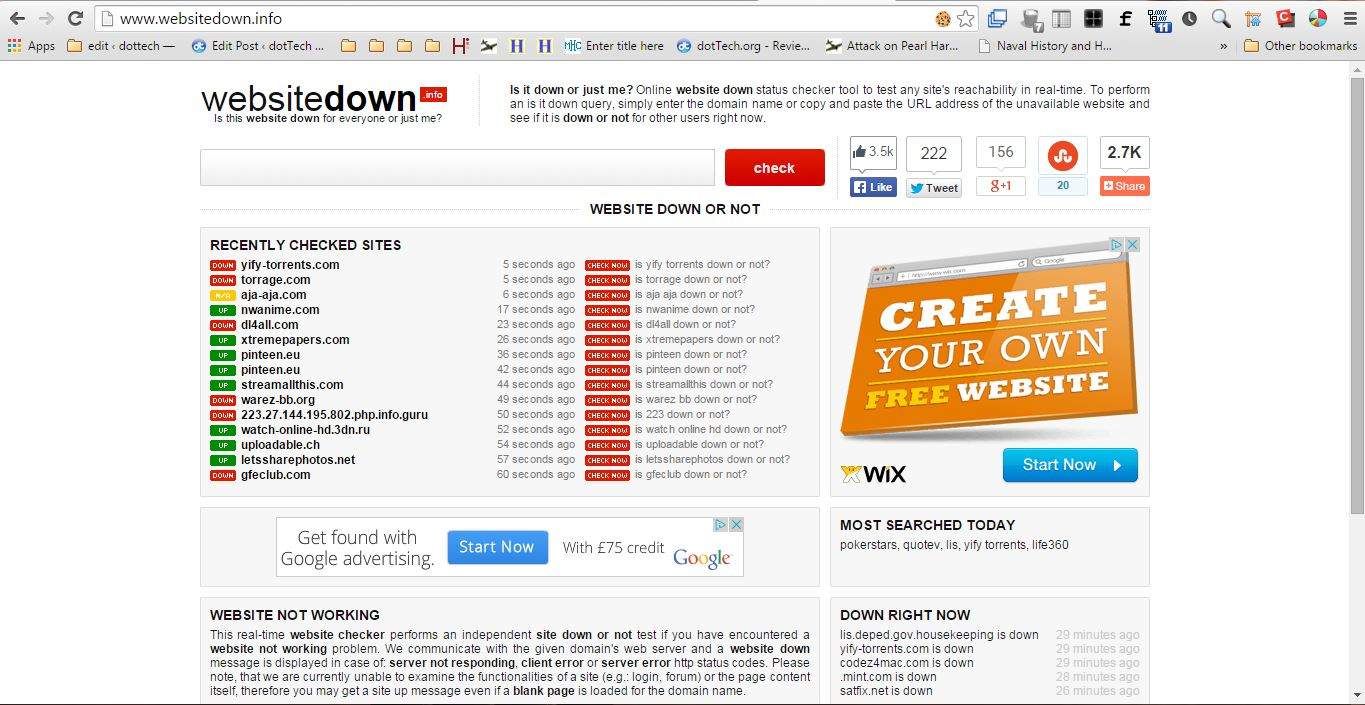 letssharephotos.net Websitedown is a handy website that checks the status of sites. Click here  to open the Websitedown page in shot below. It includes a text box where  you can ...