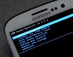 CWM recovery on Galaxy