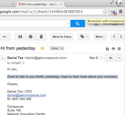 Composure auto-complete Gmail