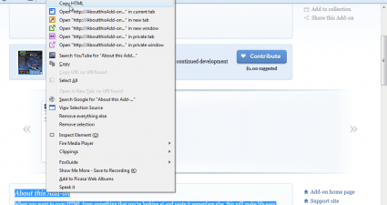 Copy HTML