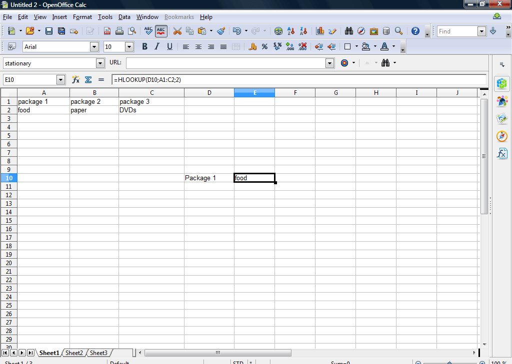 How to use HLOOKUP functions in OpenOffice spreadsheets [Tip