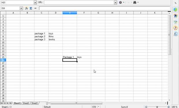 openoffice spreadsheet how to quickly add numbers