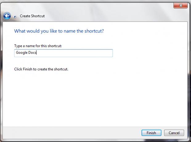 add Google Docs desktop shortcuts Windows c