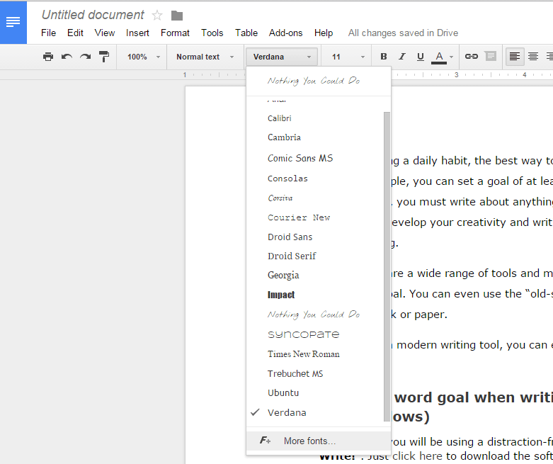 How to add more fonts in Google Docs [Tip] | dotTech