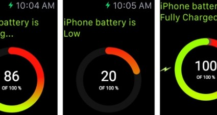 battery level check Apple Watch