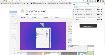 chrome tab manager